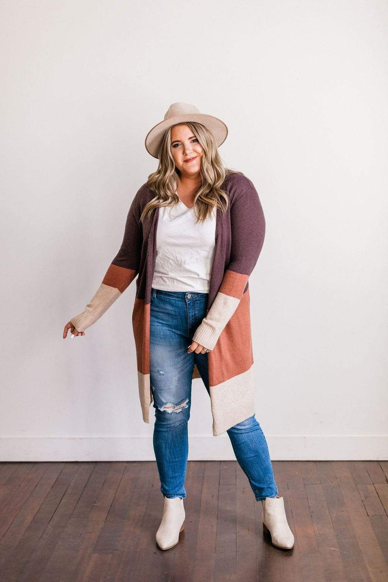 Tops CURVY Miriam Striped Cardigan