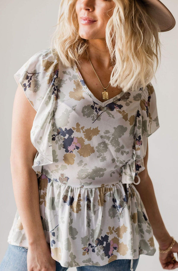 Tops Dany Floral Ruffle Top