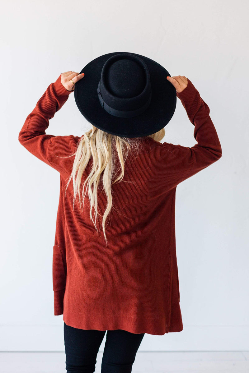 Tops Dawn Knit Cardigan Rust