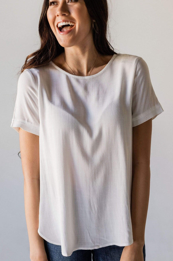 Tops Delilah Top Ivory