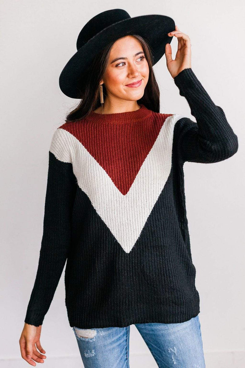Tops Devan Color Block Sweater