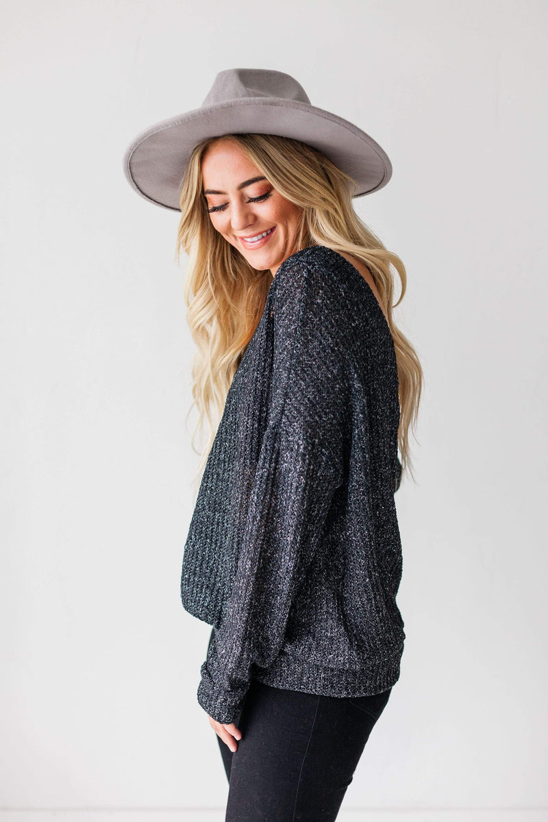 Tops Dorothy Relaxed Sweater Charcoal