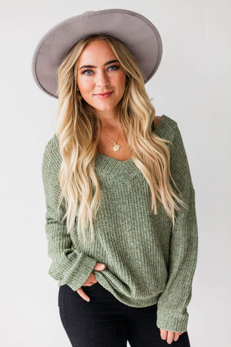 Tops Dorothy Relaxed Sweater Olive