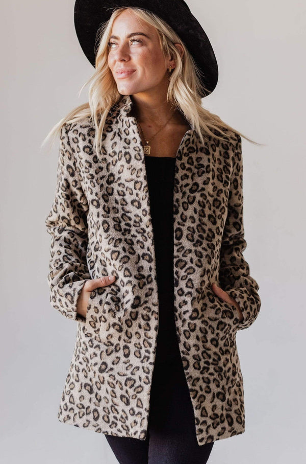 Tops EXCLUSIVE! Emrie Blazer Leopard