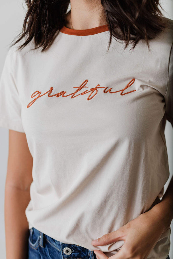Tops EXCLUSIVE! Grateful Embroidered Tee