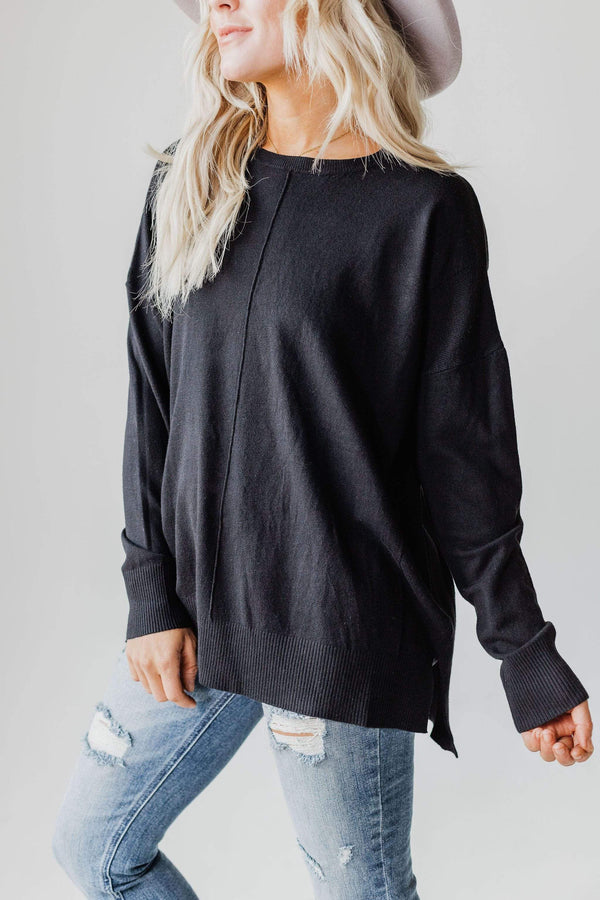 Tops EXCLUSIVE! Jess Sweater Black