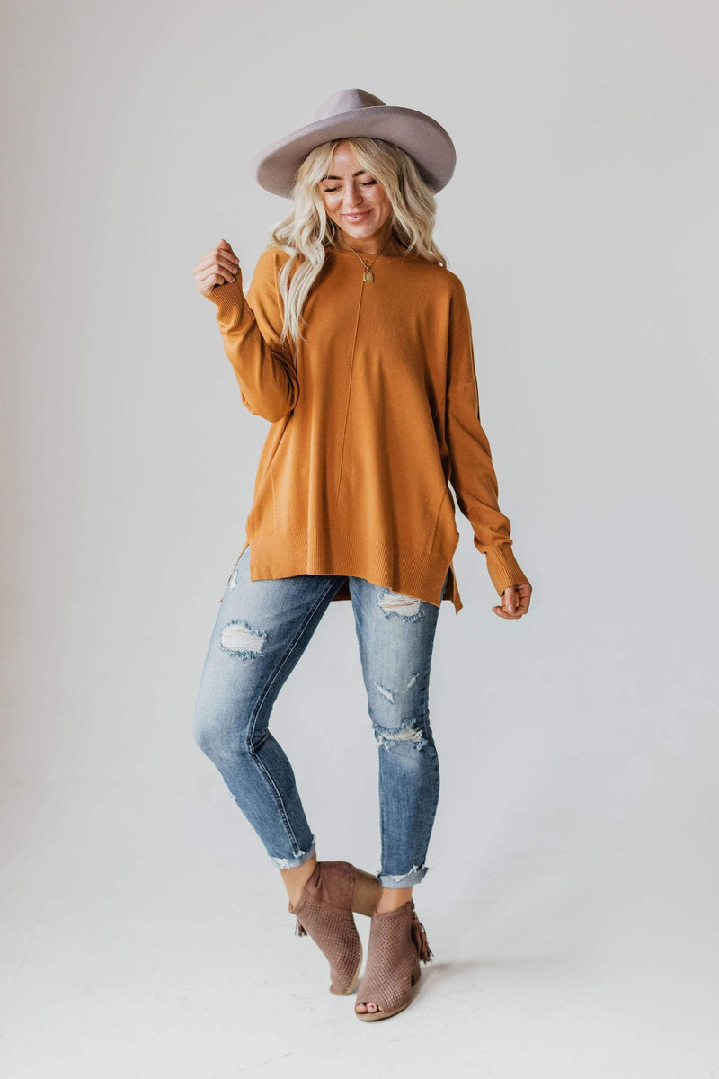 Tops EXCLUSIVE! Jess Sweater Caramel