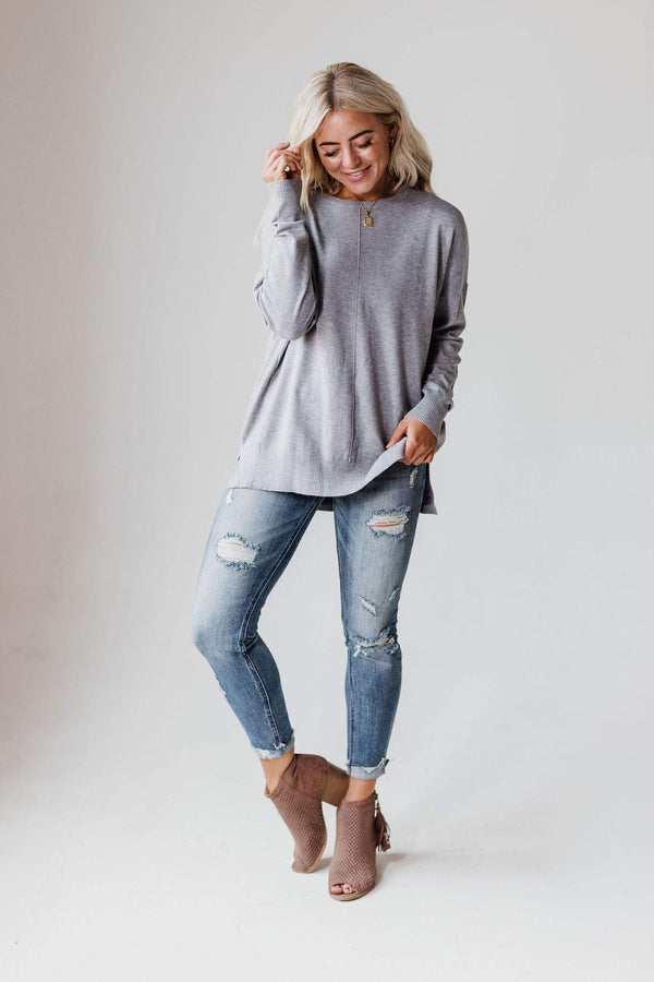 Tops EXCLUSIVE! Jess Sweater Grey