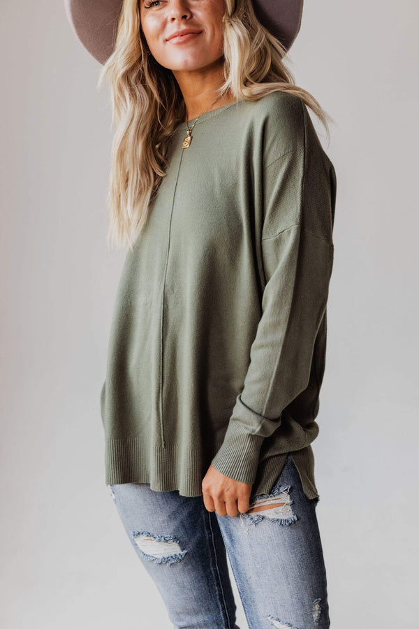Tops EXCLUSIVE! Jess Sweater Olive
