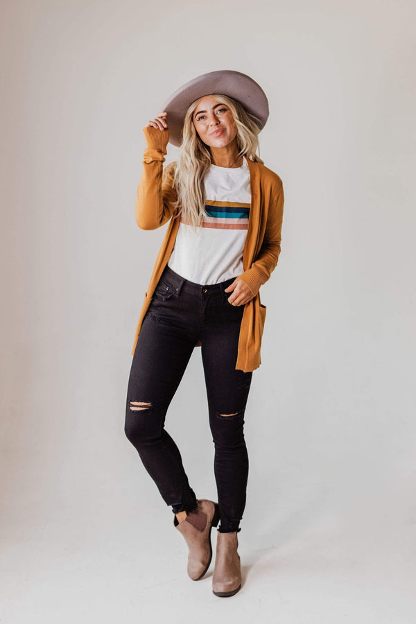 Tops EXCLUSIVE! Payton Cardigan Caramel