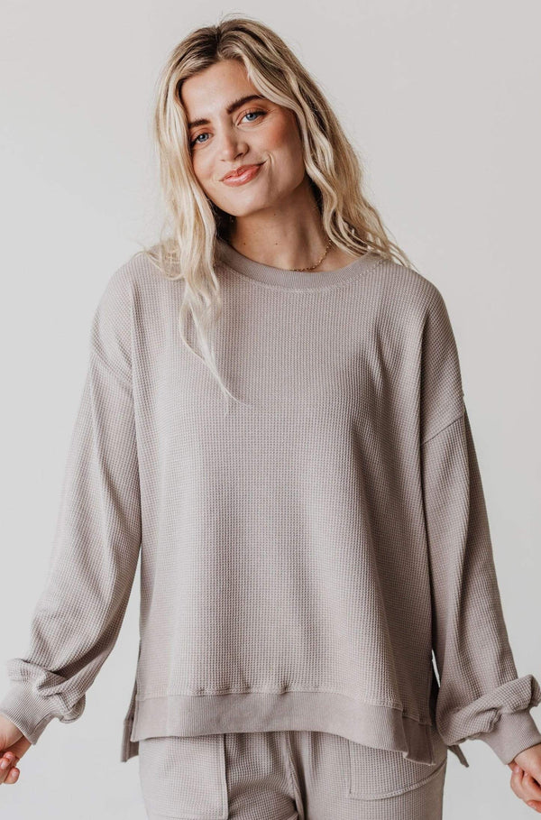 Tops Fanny Thermal Tunic Top Grey
