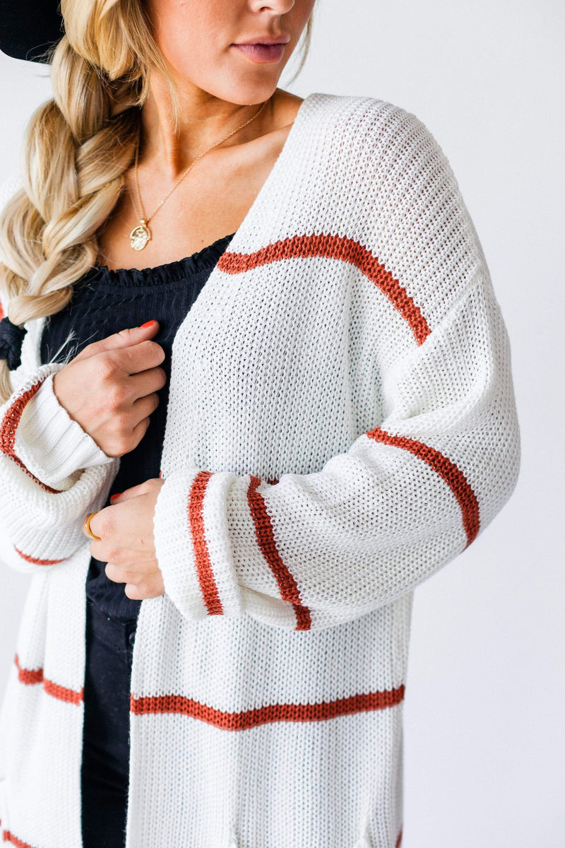 Tops Gentry Striped Cardigan