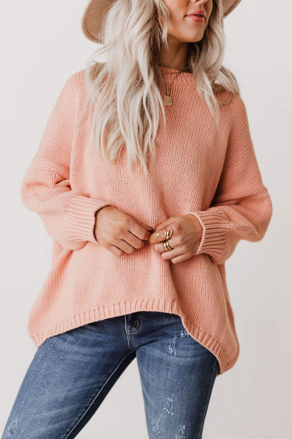 Tops Greer Oversized Sweater Peachy
