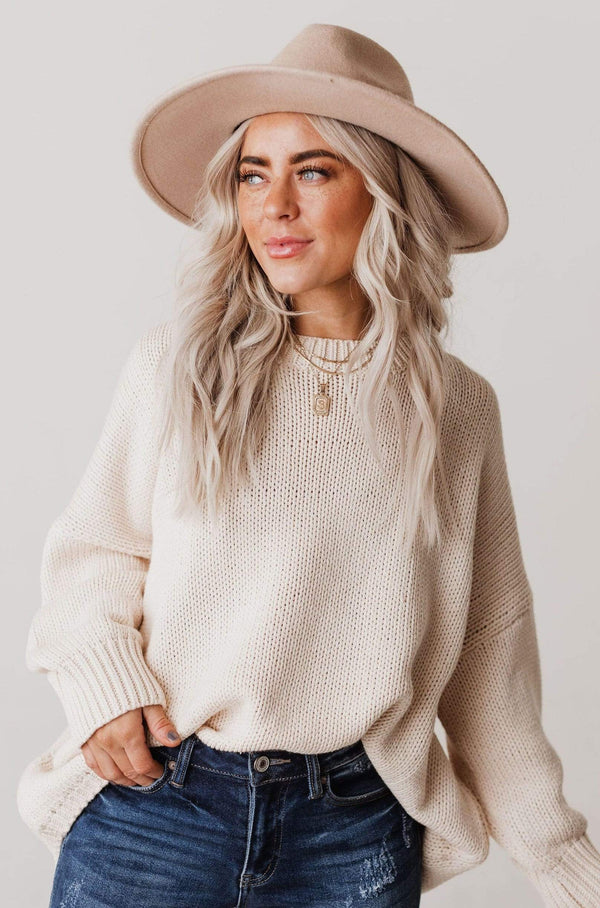 Tops Greer Oversized Sweater Taupe