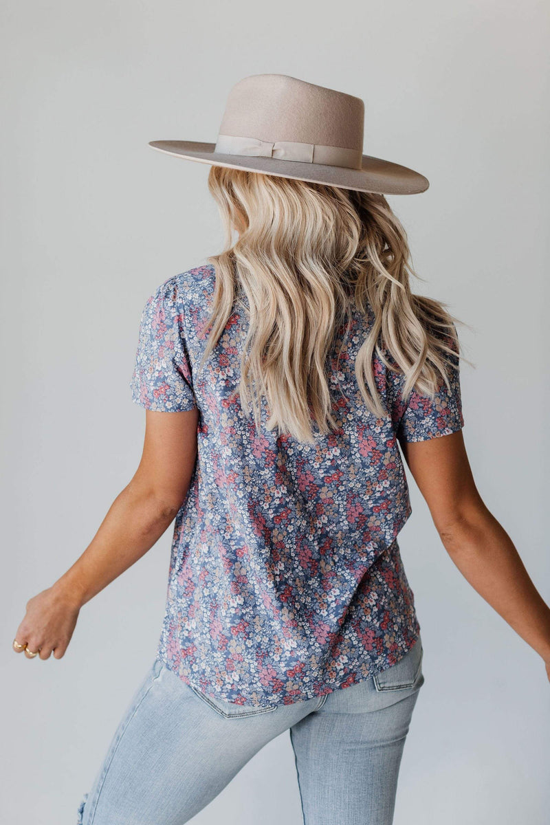 Tops Harper Floral Ruffle Neck Top
