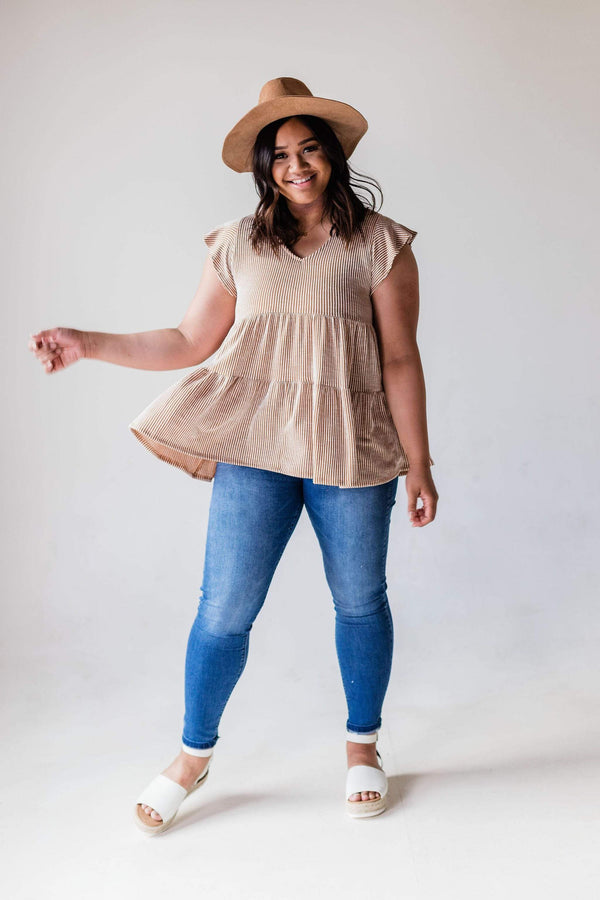 Tops Hennesey Ribbed Tunic PLUS