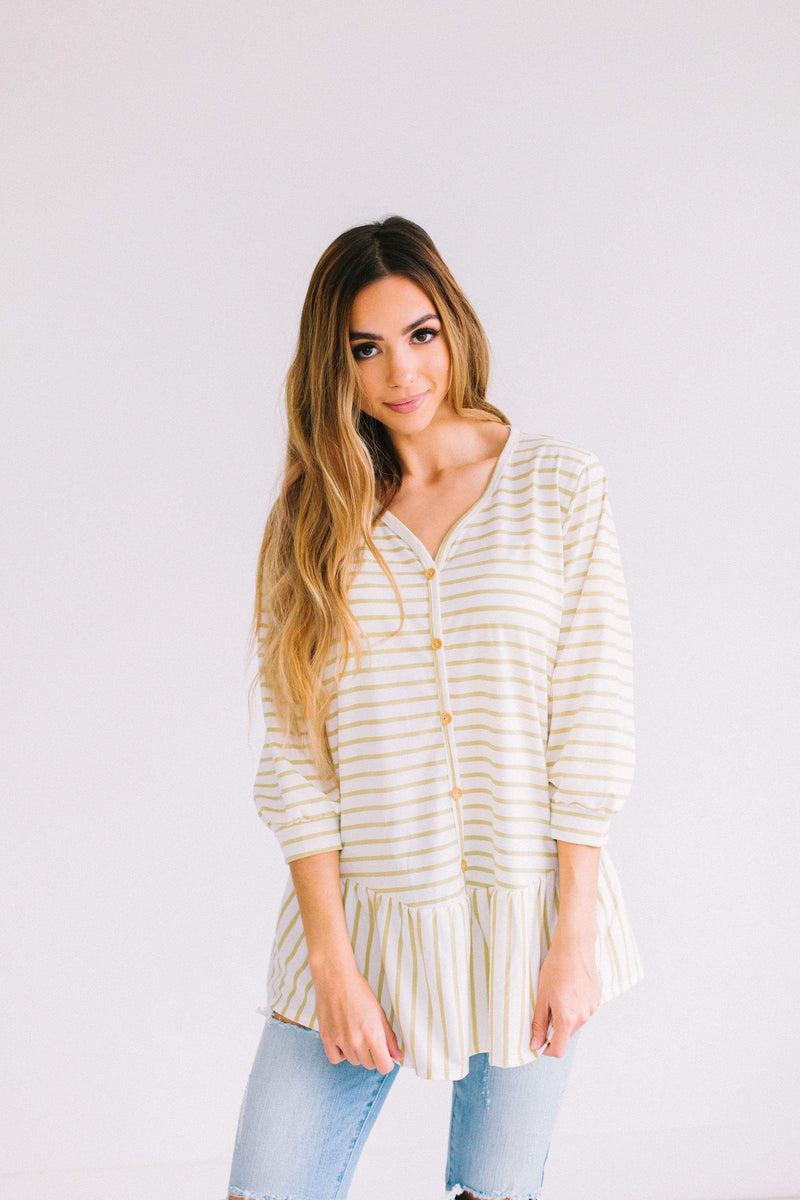 Tops Hope Striped Top Yellow