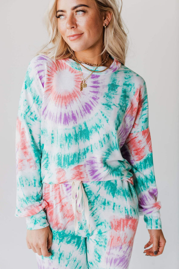 Tops Jaelyn Tie Dye Lounge Set