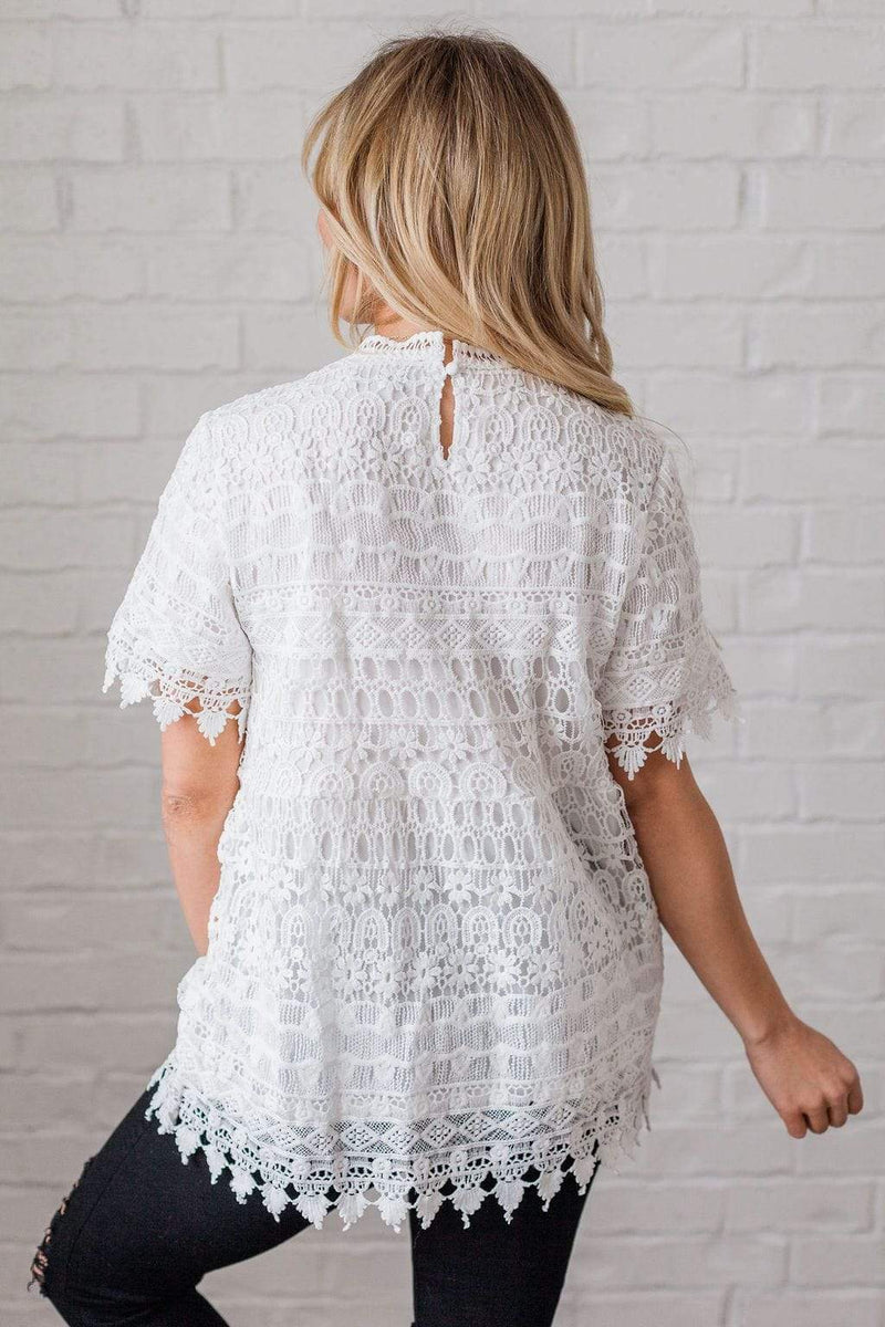 Tops Jaime Lace Detailed Ivory