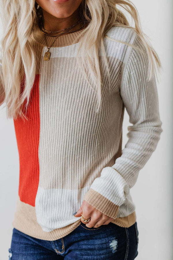 Tops Joan Color Block Sweater