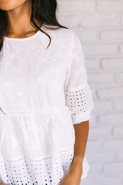 Tops Kyla Embroidered Top
