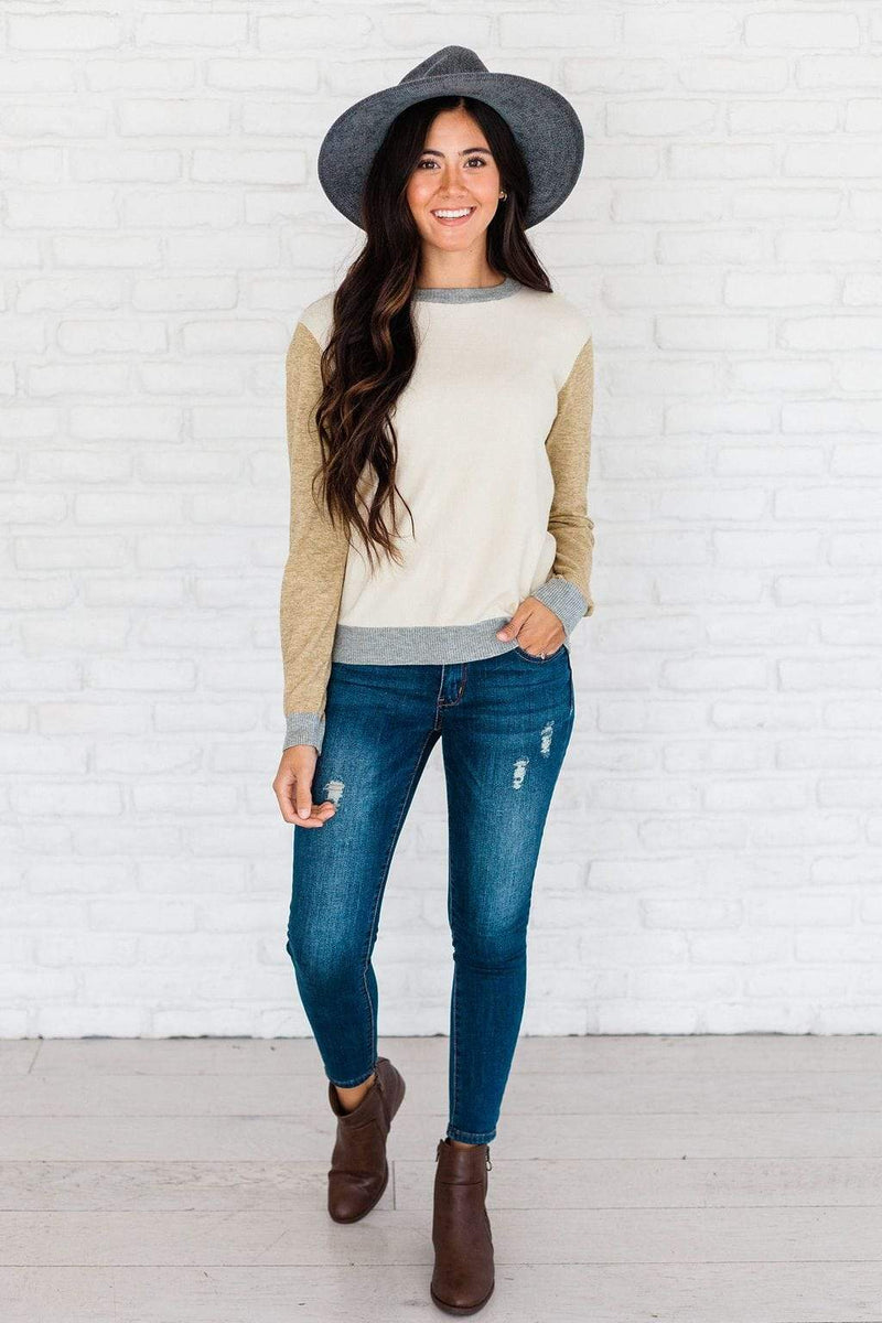 Tops Leigh Color Block Sweater