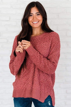Tops Maggie Sweater Rose
