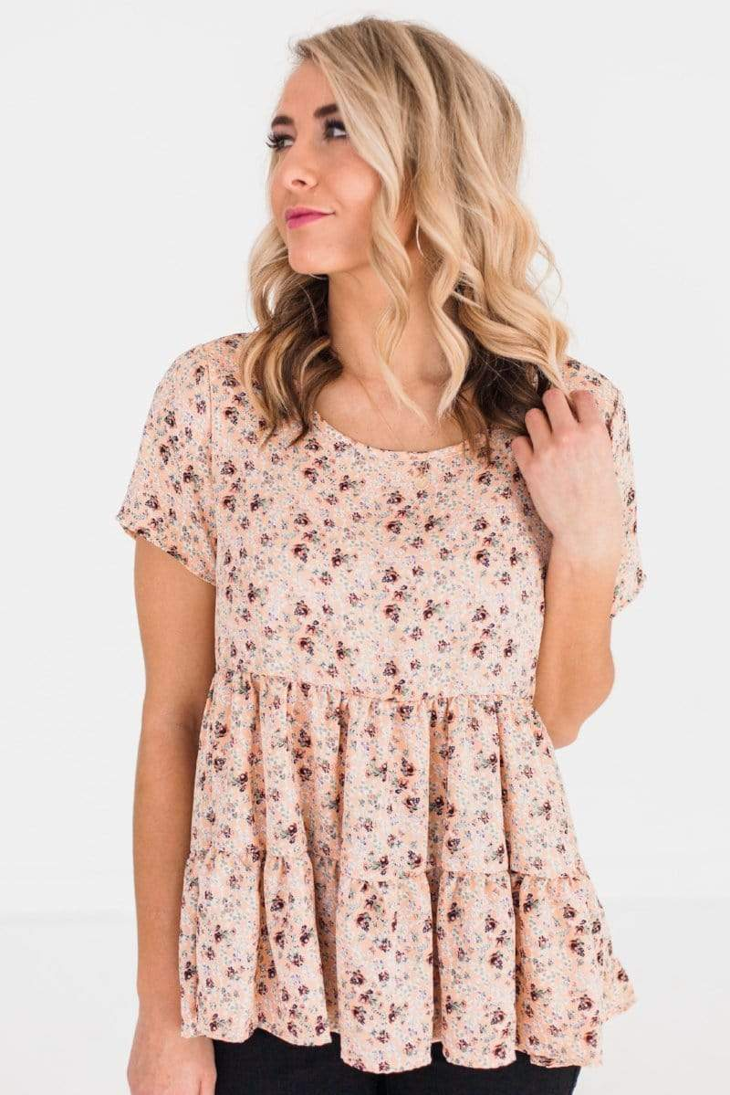 Tops Molly Floral Top Blush