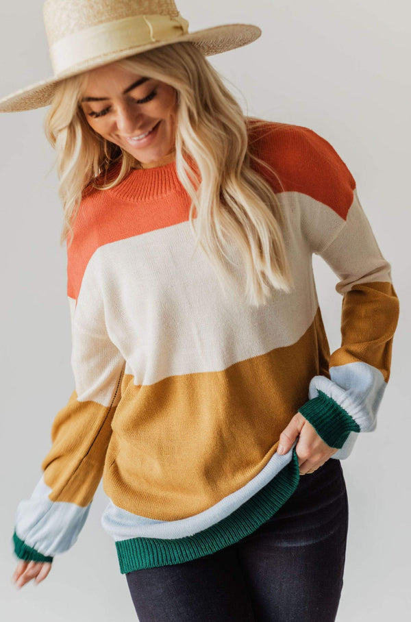 Tops Mona Color Block Sweater