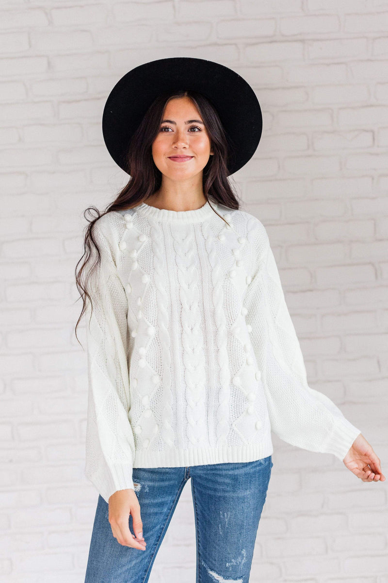 Tops Natalie Cable Knit Sweater