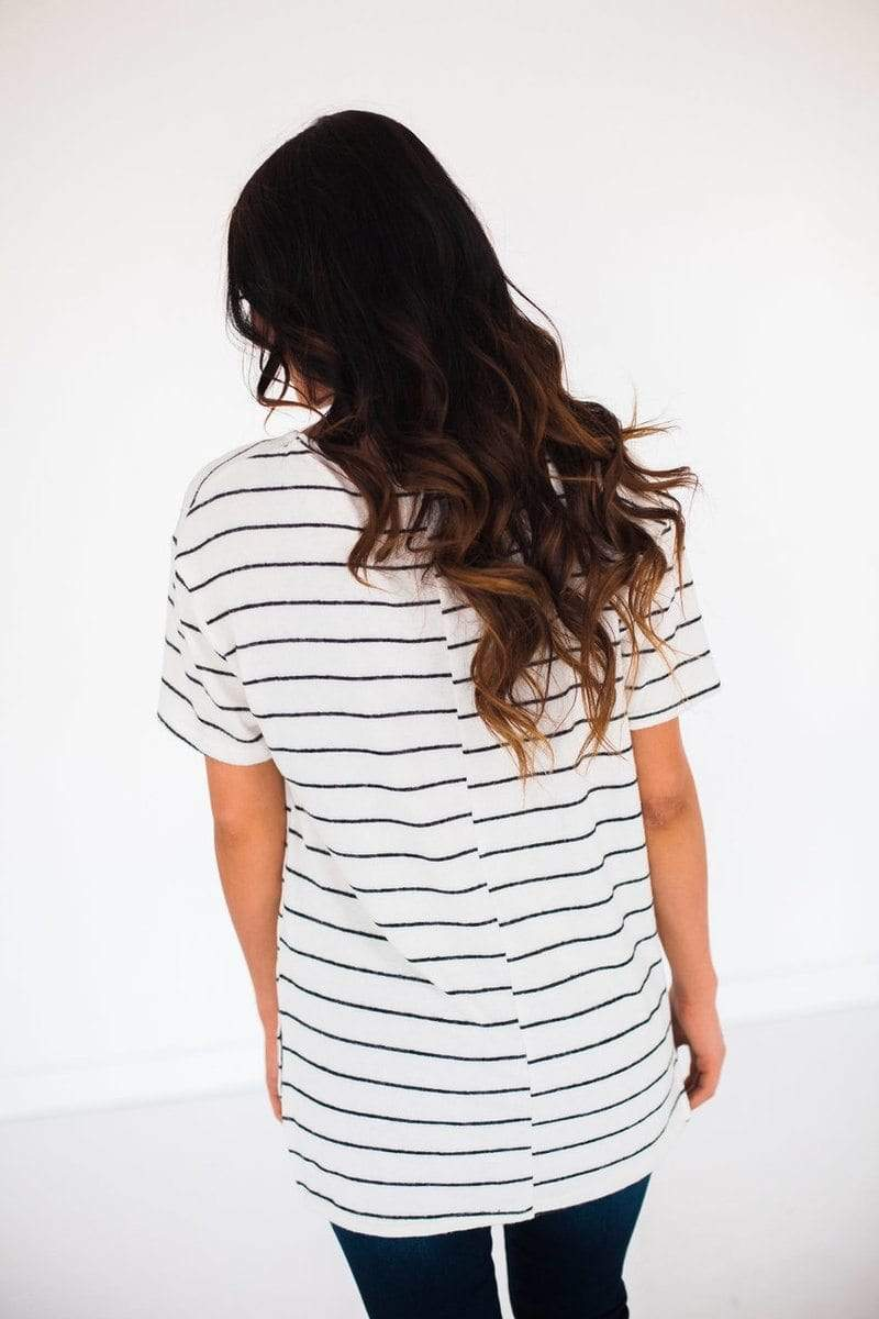 Tops Nori Striped Top Ivory