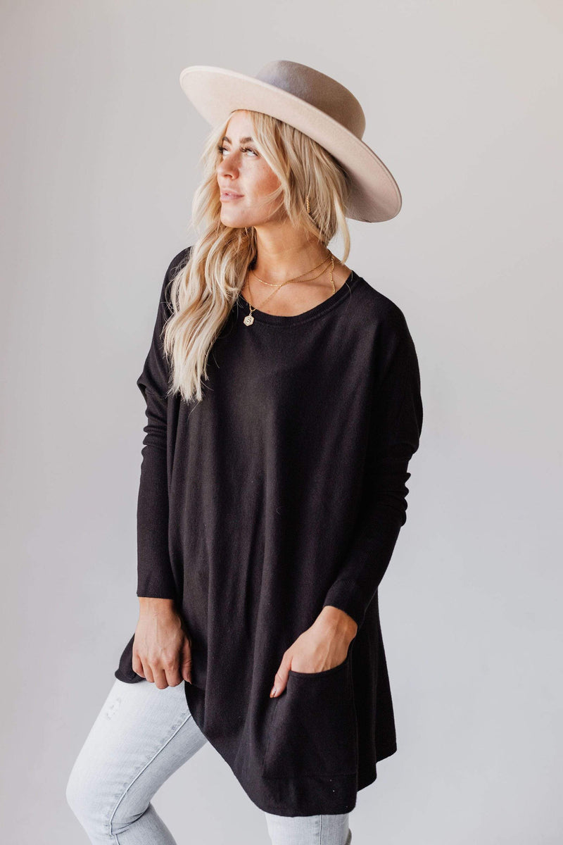 Tops Nova Relaxed Sweater Black