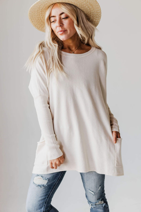 Tops Nova Relaxed Sweater Oatmeal