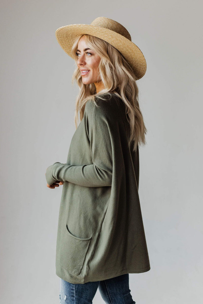 Tops Nova Relaxed Sweater Olive