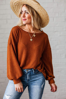 Tops Payton Thermal Top Rust