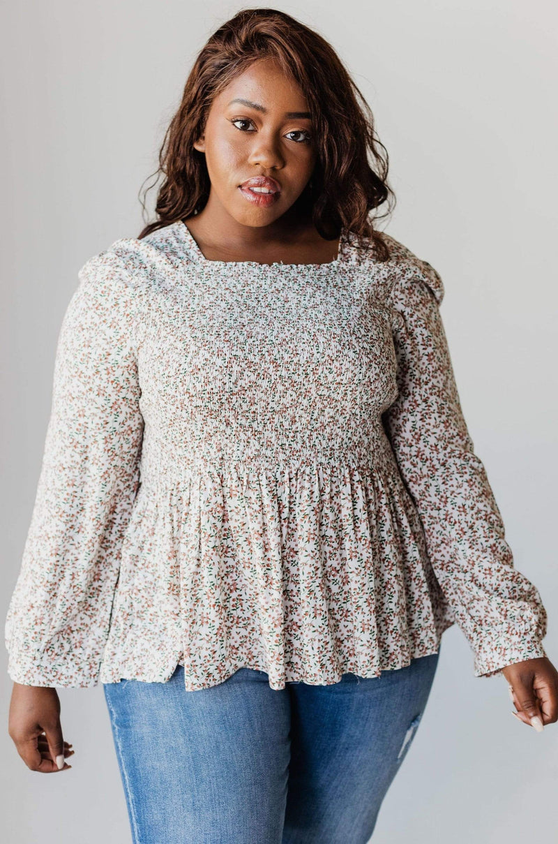 Tops PLUS Kelsey Floral Smock Top