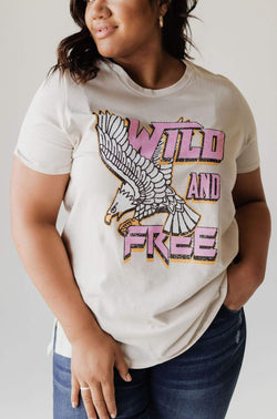 Tops PLUS Wild And Free Tee