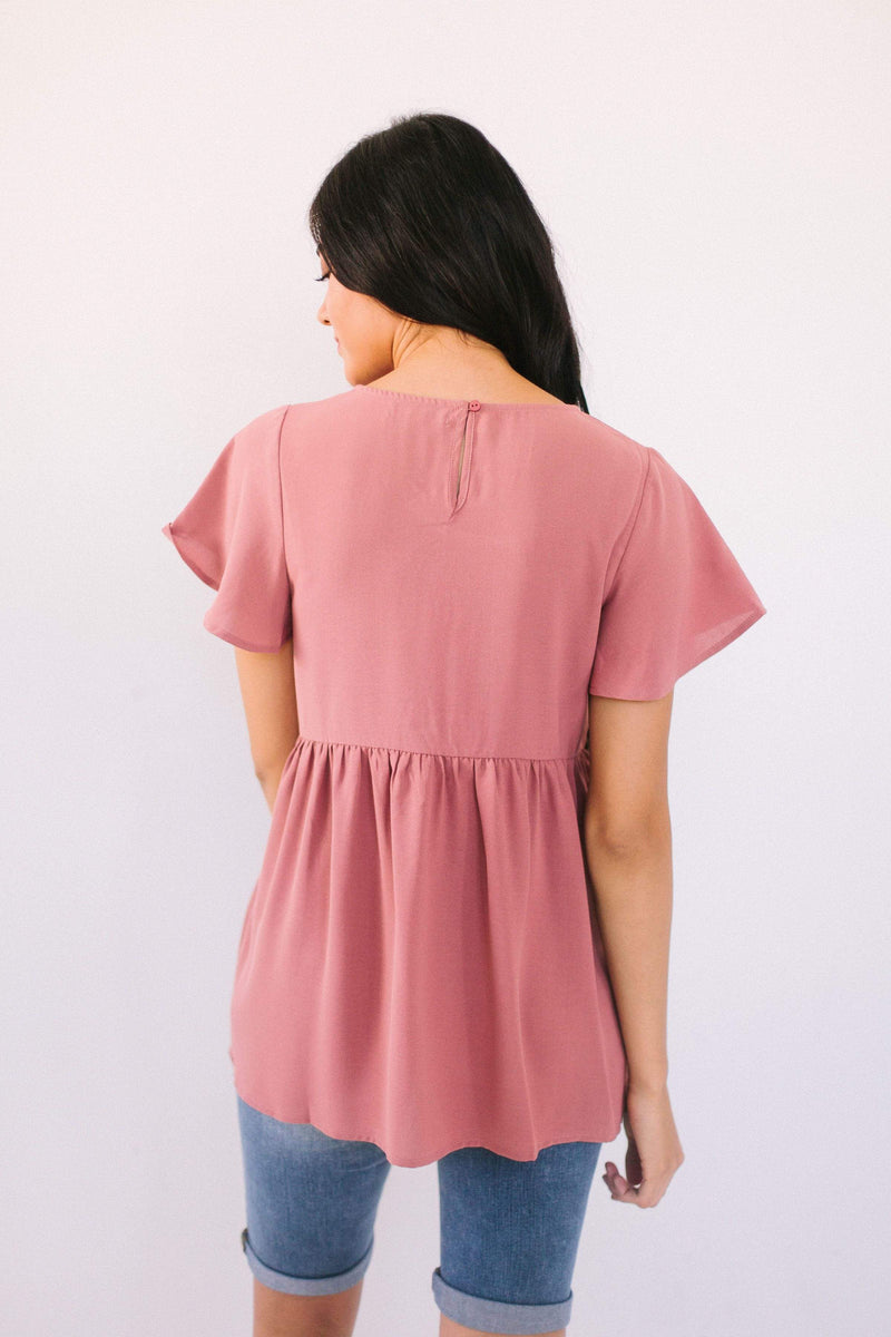 Tops Regan Embroidered Top Mauve