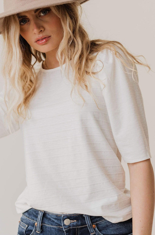 Tops Rhonda Textured Knit Top Ivory
