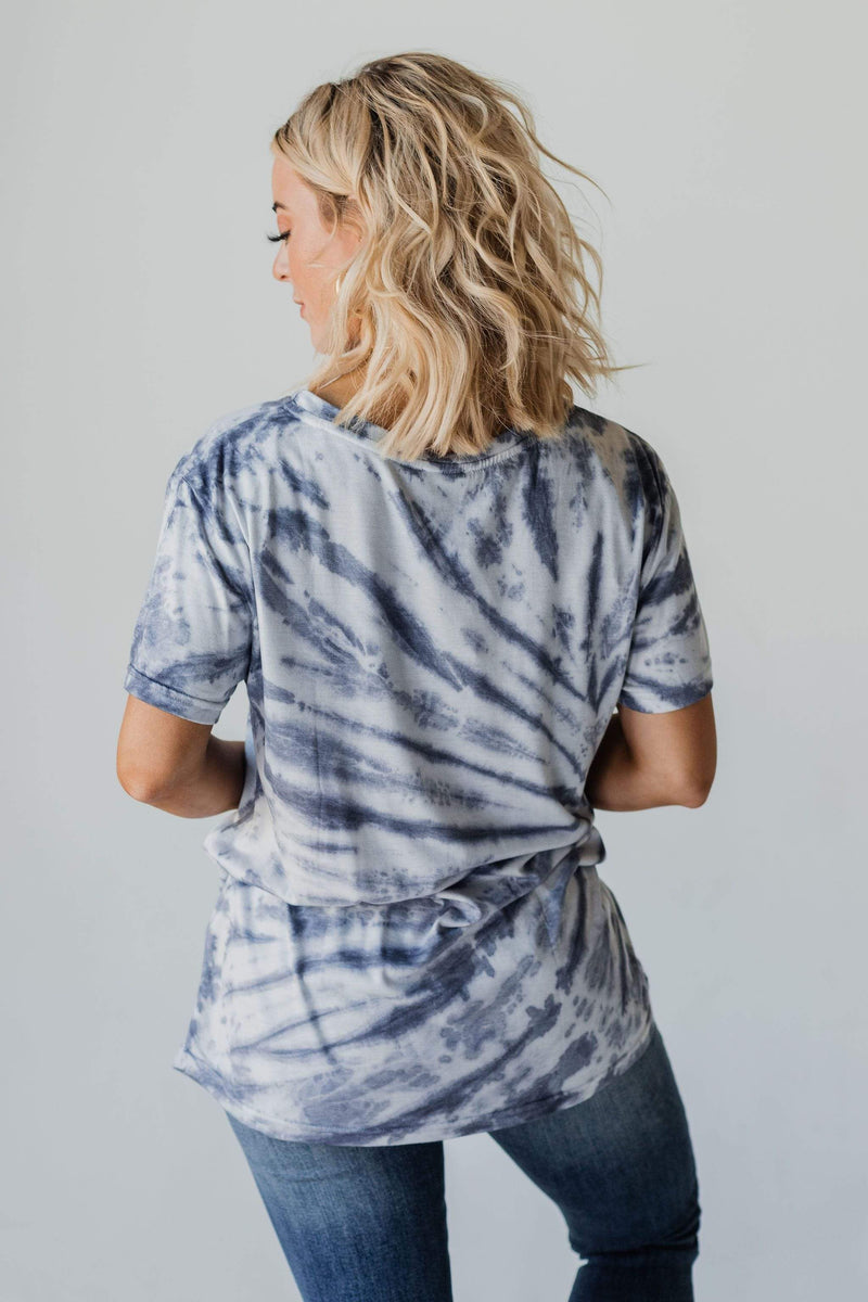Tops Royce Tie Dye Top Navy
