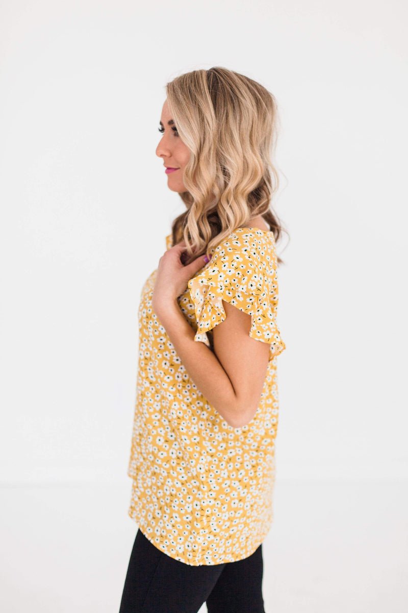 Tops Rumi Floral Top Yellow
