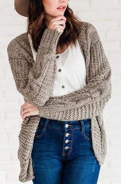 Tops Ruthie Cable Knit Cardigan Olive