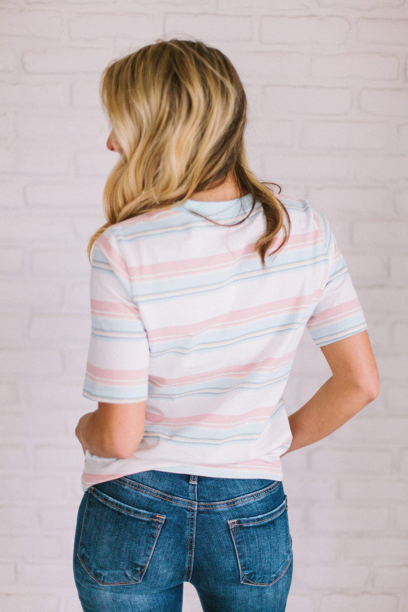 Tops Siena Striped Top Ivory