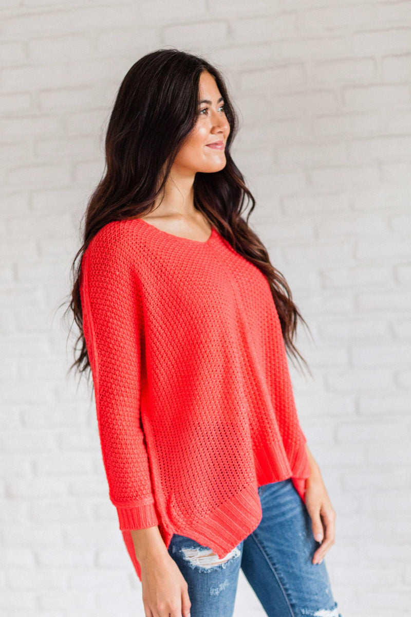 Tops Sienna Sweater Coral