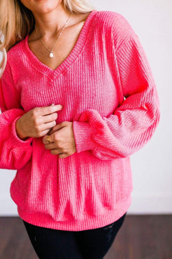 Tops Silvia Cable Knit Sweater Hot Pink