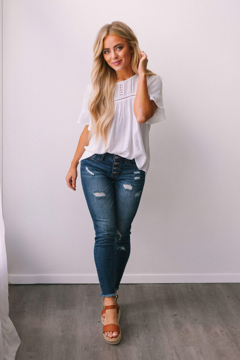 Tops Sophie Detailed Top White