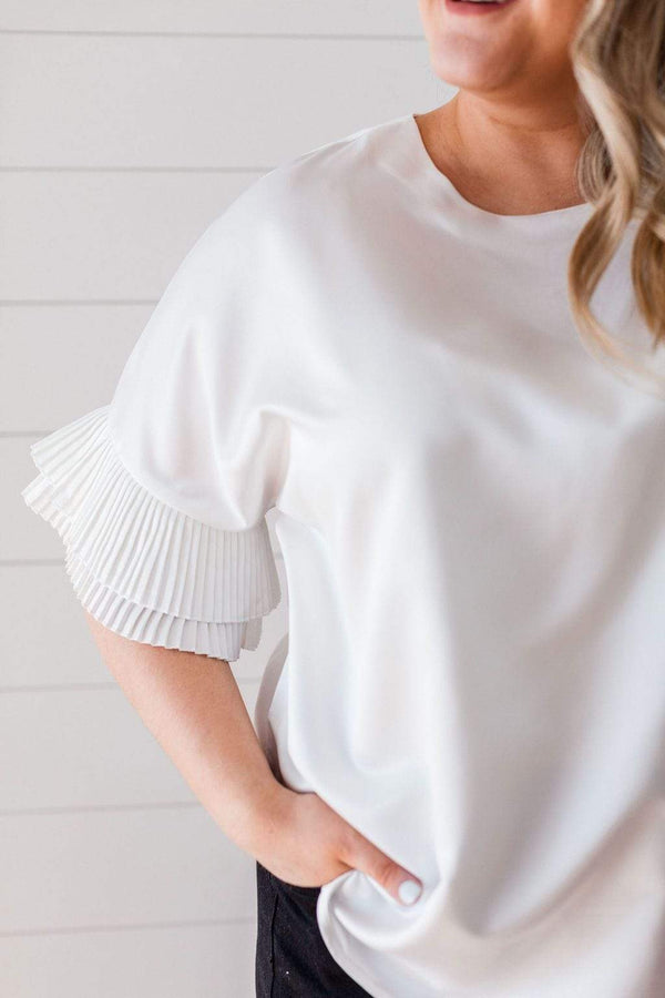 Tops Tasia Pleated Top