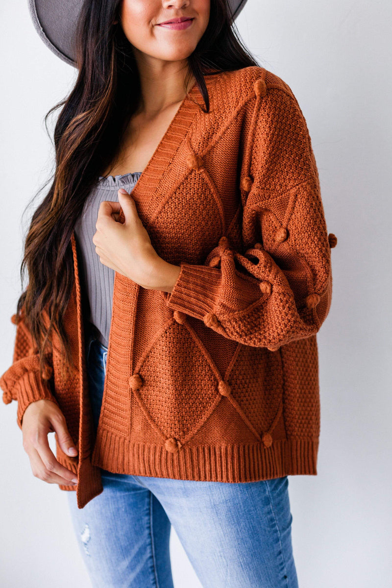 Tops Tegan Polka Dot Sweater Rust
