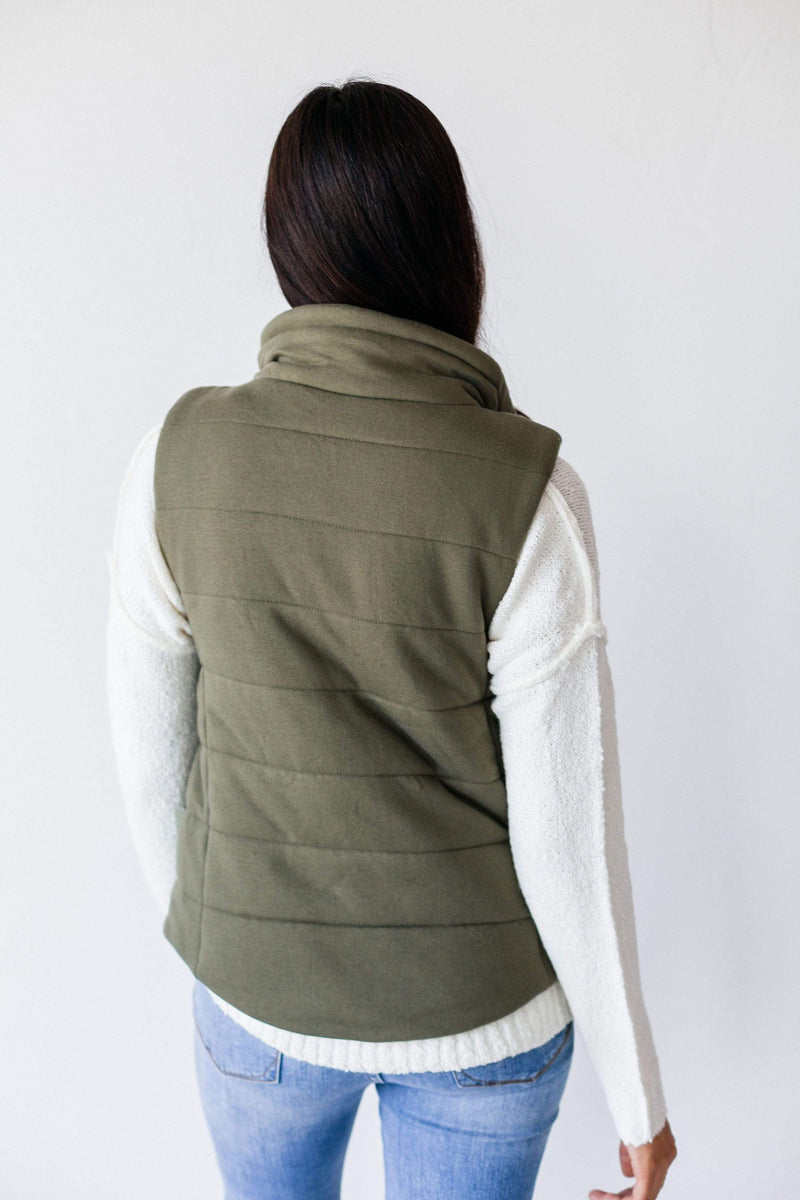 Tops Waverly Puffer Vest Olive