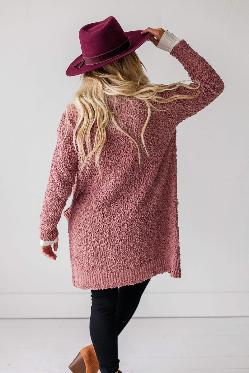 Tops Winslet Cardigan Dusty Rose